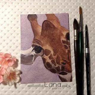 Postkarte_Giraffe